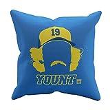 500 LEVEL Robin Yount Milwaukee Baseball Pillow - Robin Yount Silhouette