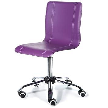 Silla de escritorio infantil y juvenil color lila: Amazon.es: Hogar