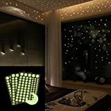 Clothful  Glow in The Dark Star Wall Stickers 252 Dots and Moon Starry Sky Kids Room Decor