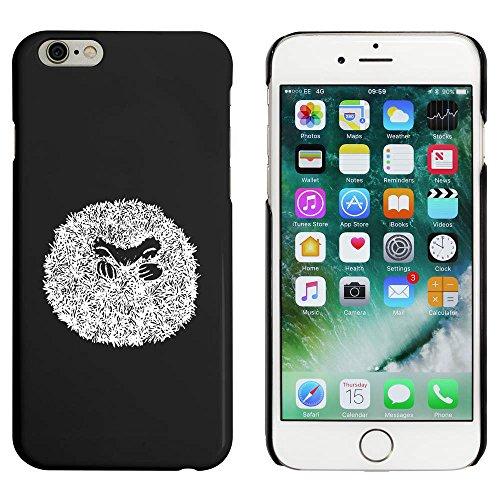 Noir 'Hérisson Enroulé' étui / housse pour iPhone 6 & 6s (MC00032137)