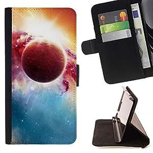 Momo Phone Case / Flip Funda de Cuero Case Cover - Psychedelic Orbit Espacio;;;;;;;; - HTC Desire 820