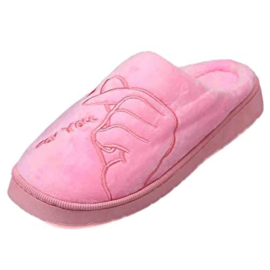 abdb86c76ef28 SOMEUSUN Pantoufles d hiver pour Femmes Plates d intérieur Chaussures de  Plancher Souples