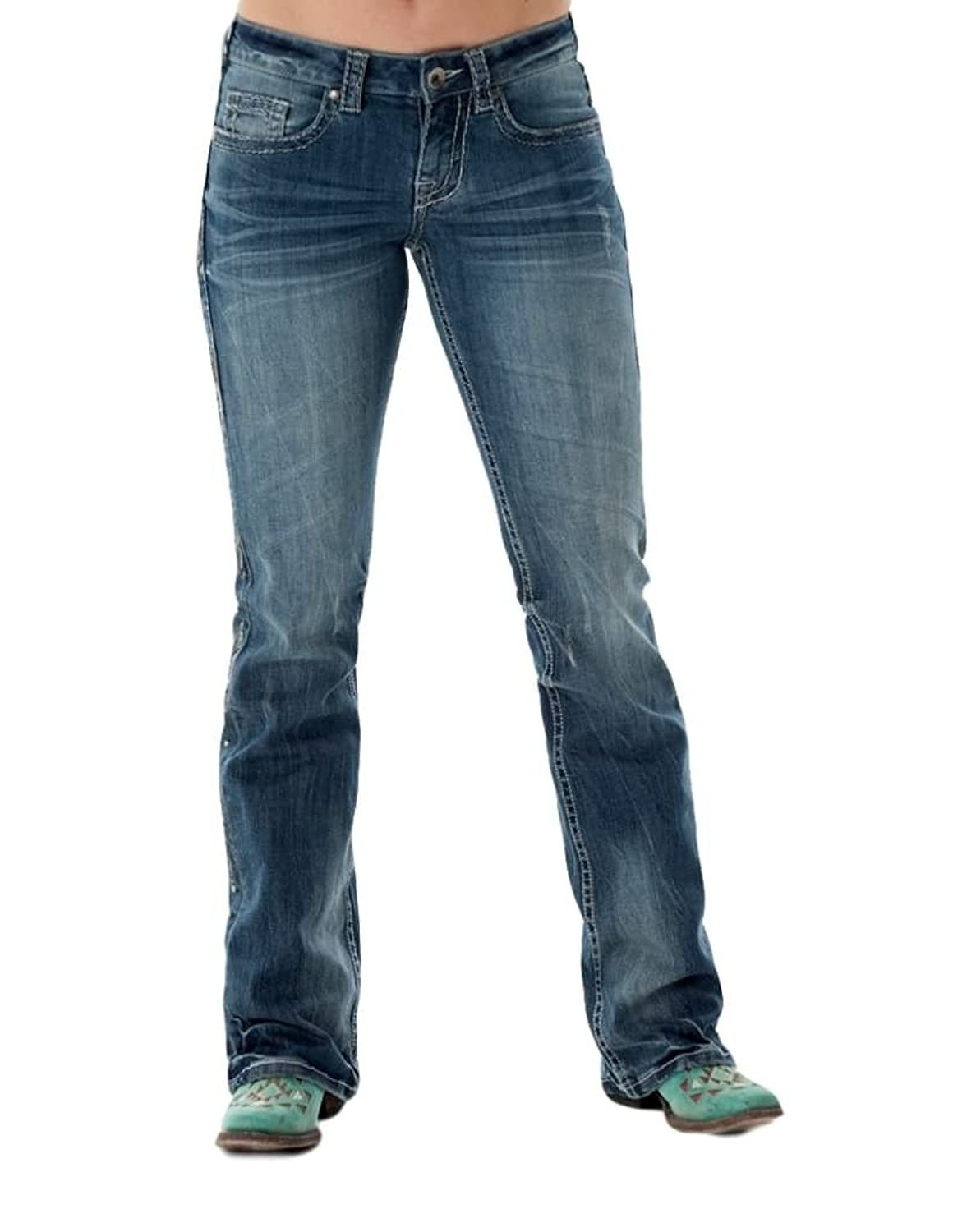 Cowgirl Tuff Co. Womens Brave Wings Silver Jeans