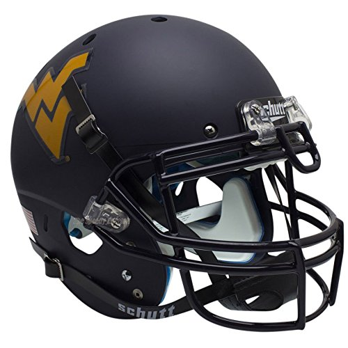 NCAA West Virginia Mountaineers Matte Authentic Helmet, One Size ()