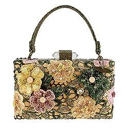 Hand Beaded 3D Floral Handbag