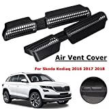 MONNY Car Under Seat AC Heater Shell Air Condition Grille Vent Protective Cover with adhesive For Skoda Kodiaq 2016 2017 2018