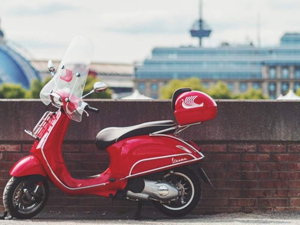 Shunry Vespa Motorcycle Placa Cartel Vintage Estaño Signo ...