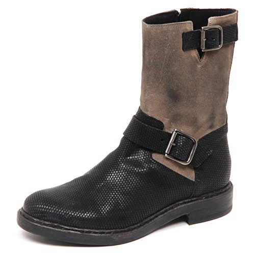 Donna Stivale E0428 tortora Boot Nero 100 Vintage Woman Hundred Shoe 5Etxwqn1
