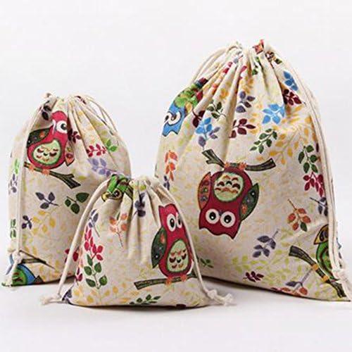 Kanggest 3pcs Bolso con cordón Cubo Plegable de Patrón de búho ...