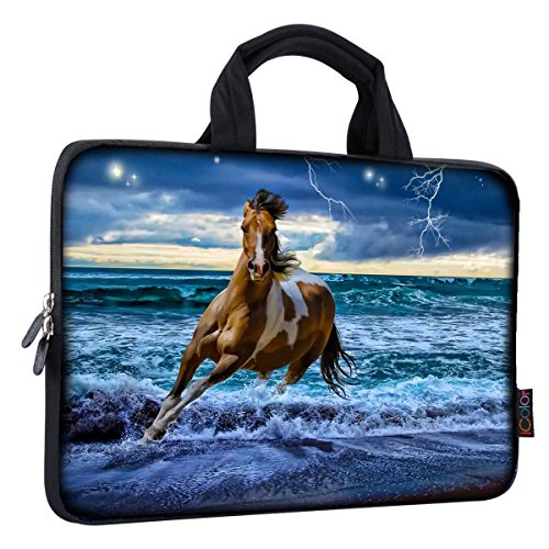 iColor 11 11.6 12 12.1 12.5 inch Laptop Carrying Bag Chromebook Case Notebook Ultrabook Bag Tablet Travel Cover Neoprene Sleeve for Apple Macbook Air Samsung Google Acer HP DELL Lenovo Asus Horse