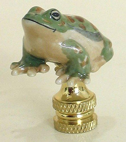 - Green Frog Finial Porcelain