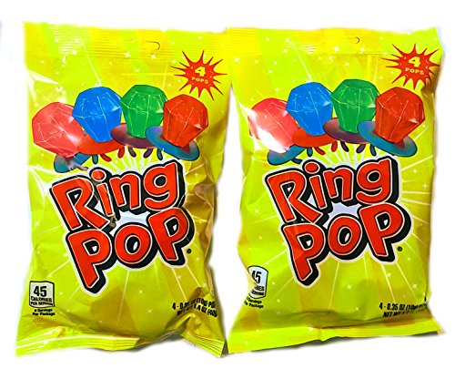 Ring Pops with Strawberry, Watermelon, Blue Raspberry and Cherry (2 -