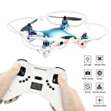 SINOCHIP RC Helicopter Mini Drone with Camera RTF quadcopter drone 2.4GHz 4 Channel 6 Axis Gyro Training Drone For Beginners (Blue)