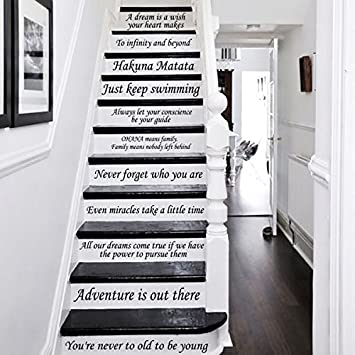 Home Decor Decals eat drink and be merry wall decal 0011 kitchen wall decals food decals Disney Stair Decals Quotes Stairway Decals Quote 14 Steps Vinyl Stickers Disney Lettering Family Home Decor