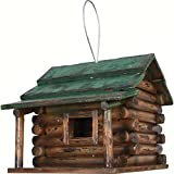 Rivers Edge Wood Log Cabin Birdhouse