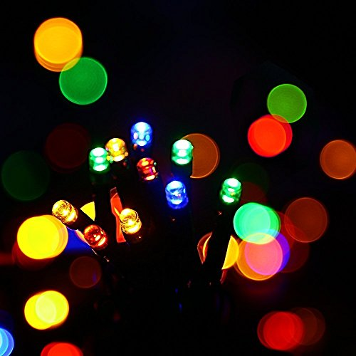 Patio String Lights 72.2 Feet 200 LED Fairy Lights, USB Powered with Soft Brightness, 8 Color Changing Modes, Decorations for Christmas Tree, Wedding, Restaurant, Hotel and House (Multi-color) ()