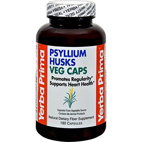 Yerba Prima Psyllium Husks Veg Caps - 180 Cap