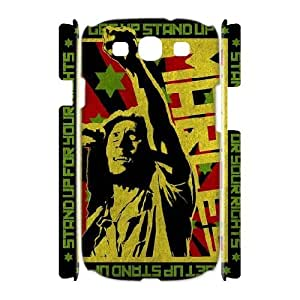 3D Samsung Galaxy S3 Case Bob Marley Stand up for Your Rights, Bob Marley Bloomingbluerose, {White}