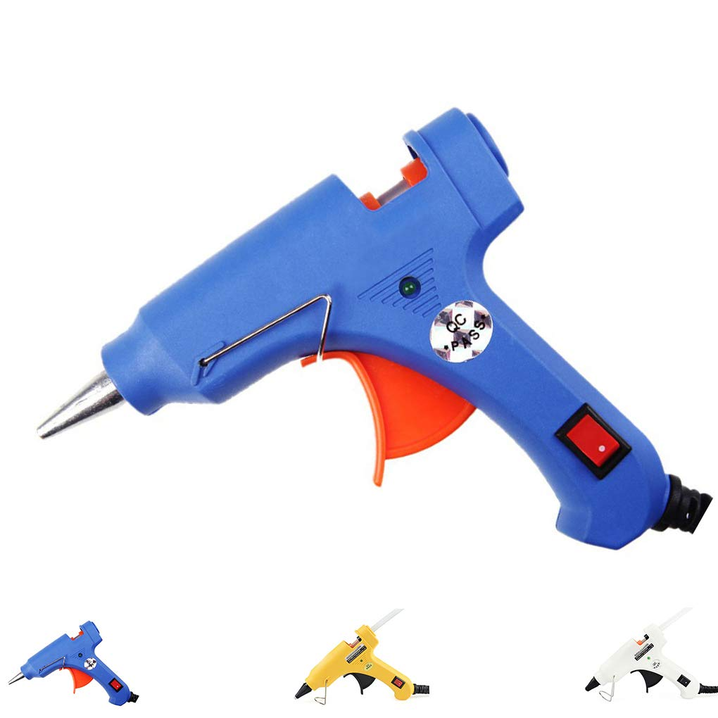 Aiming 20W EU Plug Hot Melt Pistolet /à Colle Industrielle Mini Guns thermo/électriques gluegun Heat Tool Temp/érature Graft r/éparation