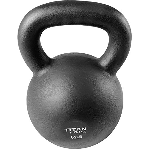 Exercise Kettlebell Figure Eight: Cast Iron Kettlebell Weight 65 Lb Natural Solid Titan