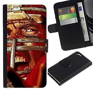 All Phone Most Case / Oferta Especial Cáscara Funda de cuero Monedero Cubierta de proteccion Caso / Wallet Case for Apple Iphone 5 / 5S // Vintage Football