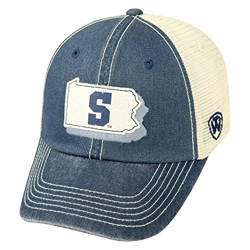 NCAA Penn State Nittany Lions Adult Unisex United Adjustable Hat,Osfa,Navy/Tan