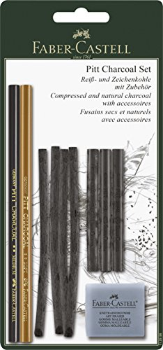 Compressed Charcoal Pencil - Pitt Charcoal Set