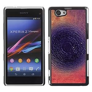 Be Good Phone Accessory // Dura Cáscara cubierta Protectora Caso Carcasa Funda de Protección para Sony Xperia Z1 Compact D5503 // Round Abstract Dark Ink