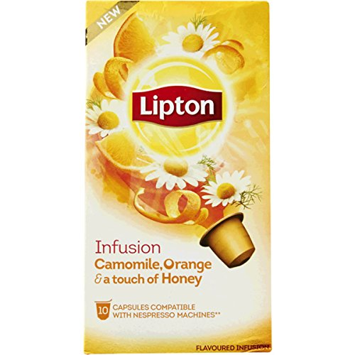 (60 x LIPTON - Nespresso OriginalLine Compatible Capsules - INFUSION CAMOMILE, ORANGE & a touch of)