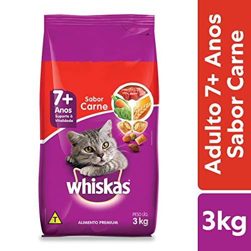 Ração Para Gatos Whiskas Carne Adultos Sênior 7+ Anos 3kg