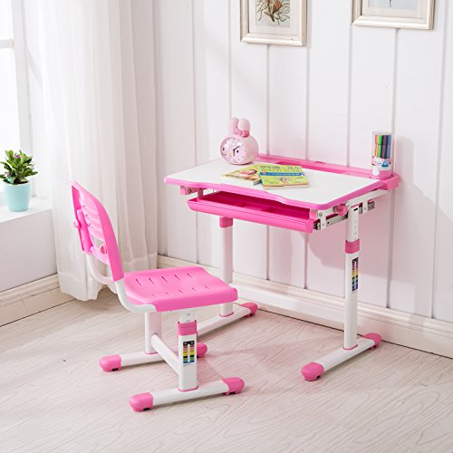 Mecor Children S Desk And Chair Set Adjustable Kid S Study