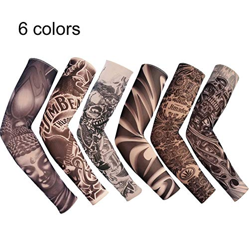 75b070c9b6090 Plus Mi Life 6 pcs Tattoo Cooling Arm Sleeves Cover Basketball Golf Sport  UV Sun Protection
