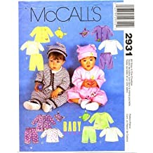 McCall's 2931 Sewing Pattern Infants Jacket Top Pants Hat Size S - XL by McCall's