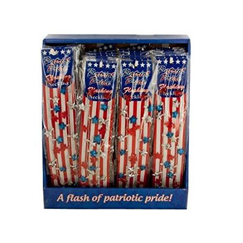 Patriot Pride- Flashing Necklace (397/USA-LUNK)(12