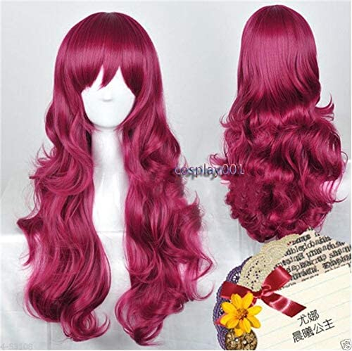 FidgetFidget Cosplay Women Wig Hair for Copper Red Jessica Rabbit Curly Wavy Long Anime