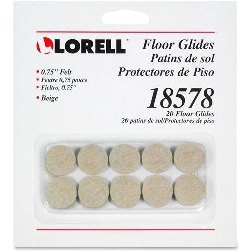 Lorell Felt Floor Glides, Beige, 3/4