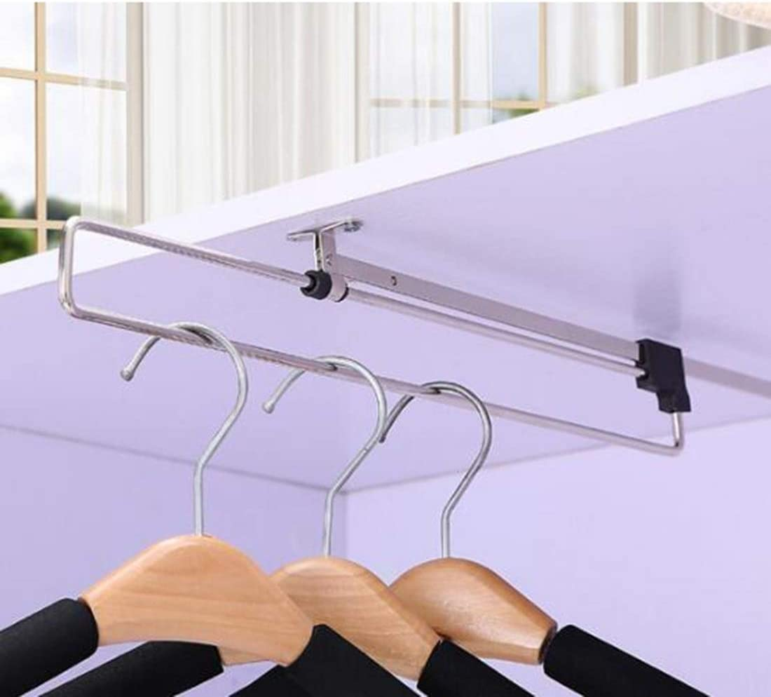 STZLY Telescopic Rail Pull-Out save space Wardrobe Clothes Hanger 35cm hanger