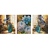 Mazixun 5D Diamond Embroidery Flower Vase DIY Diamond Painting Cross Stitch Diamond Mosaic Bead Picture Decor 60x135cm