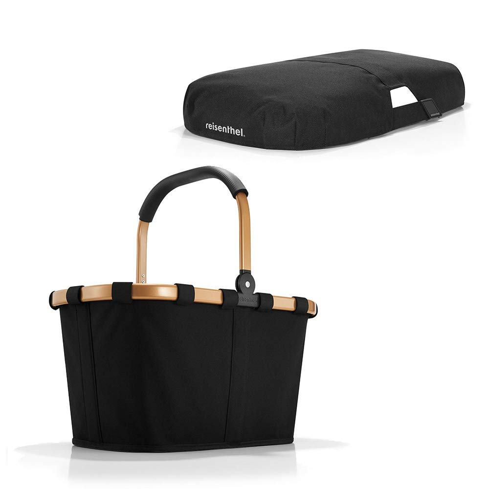 Reisenthel Carrybag Frame Set   Einkaufskorb mit Abdeckung (Gold/Schwarz)