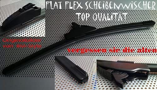 L/änge 650//450 2er Set Soft Flat Scheibenwischer gelenklos