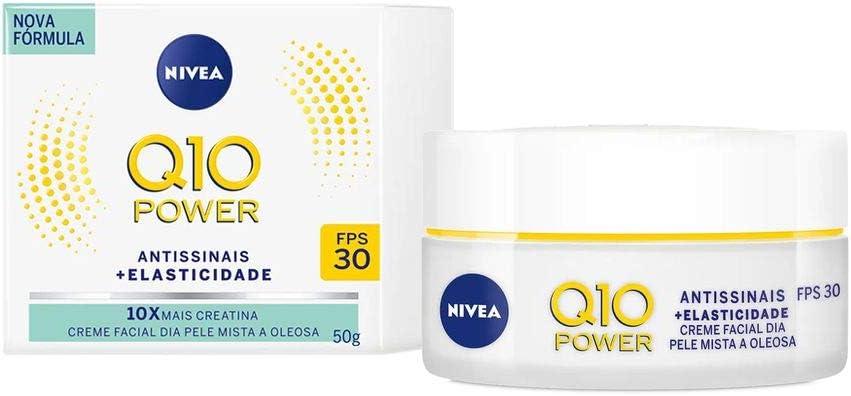 Q10 Creme Facial Antissinais, da Nívea, 50ml