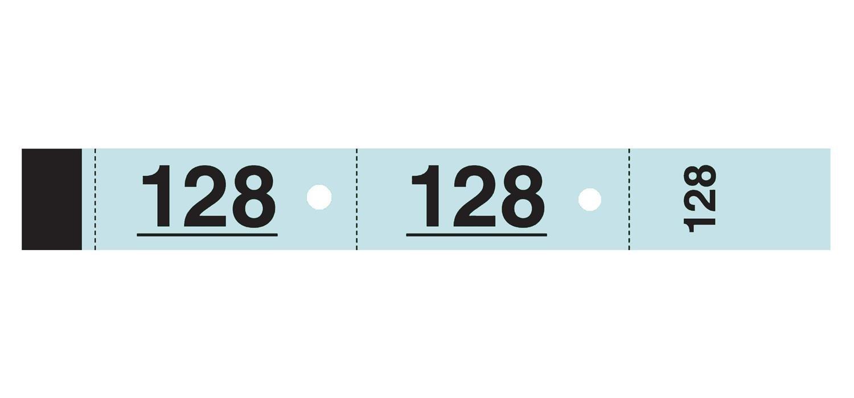 Elve Blocco da 50biglietti guardaroba 3x 20cm Blu Confezione da 20(da 1a 1000) Lebon Vernay