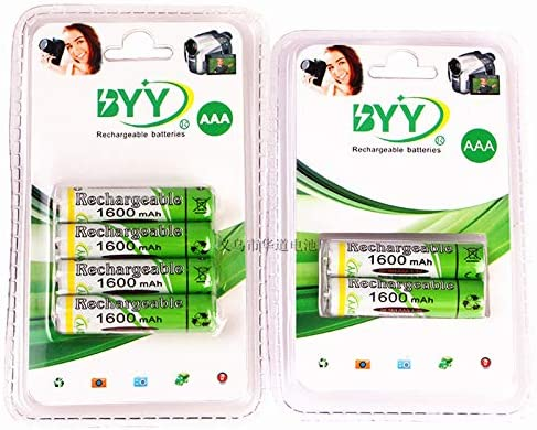 BEESCLOVER 2 Pcs//4 Pcs 1600mAh 1.2V AAA Rechargeable Batteries NI-MH Rechargeable Battery for Toys Household Appliances 4pcs