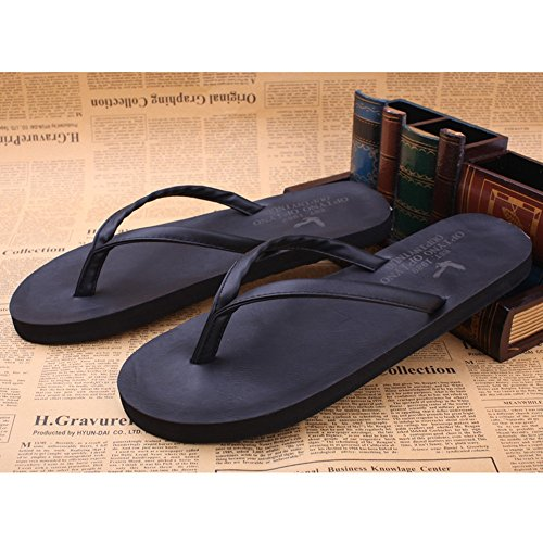 FEI Mules Men and women Leisure outdoor soft Pure color beach couple slippers/flat sandals Sandals Casual (Color : Black, Size : EU39/UK6.5/CN40) Black