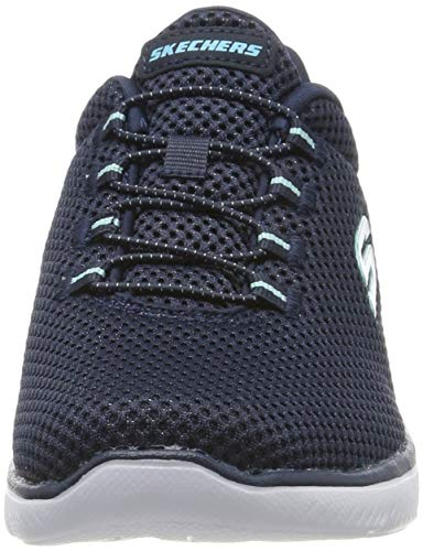 Summits Blue Nvlb navy Baskets light Skechers Bleu Femme RWaHYqnx