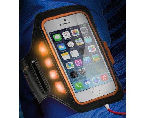 KSIX BXFBRLIP5 Sport Armband Case mit LED-Armtasche für Apple iPhone 5/5S