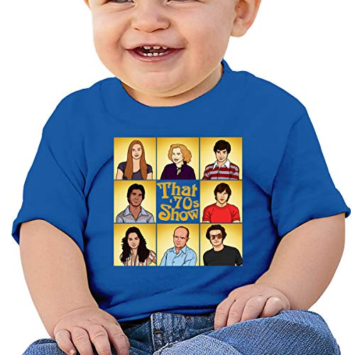 Toddler Boys Girls Short Sleeve Tshirts That 70s Show Toddler Kids 100% Cotton Tees Tops Blue
