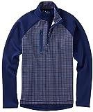 Bobby Jones Men's Xh20 Performance Grid Print Pullover Golf Jacket, Summer Navy, Large