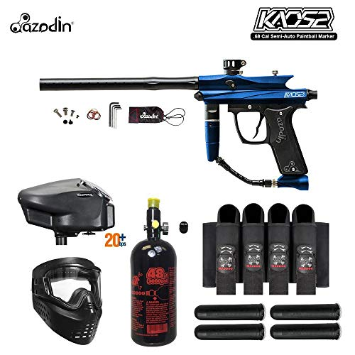 MAddog Azodin KAOS 2 Expert Paintball Gun Package - Blue/Black ()
