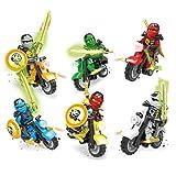 Toys : Baomabao 6 X Minifigures Ninjago Toys Ninja Zane KAI Lloyd Motorcycle Chariot Blocks Z017